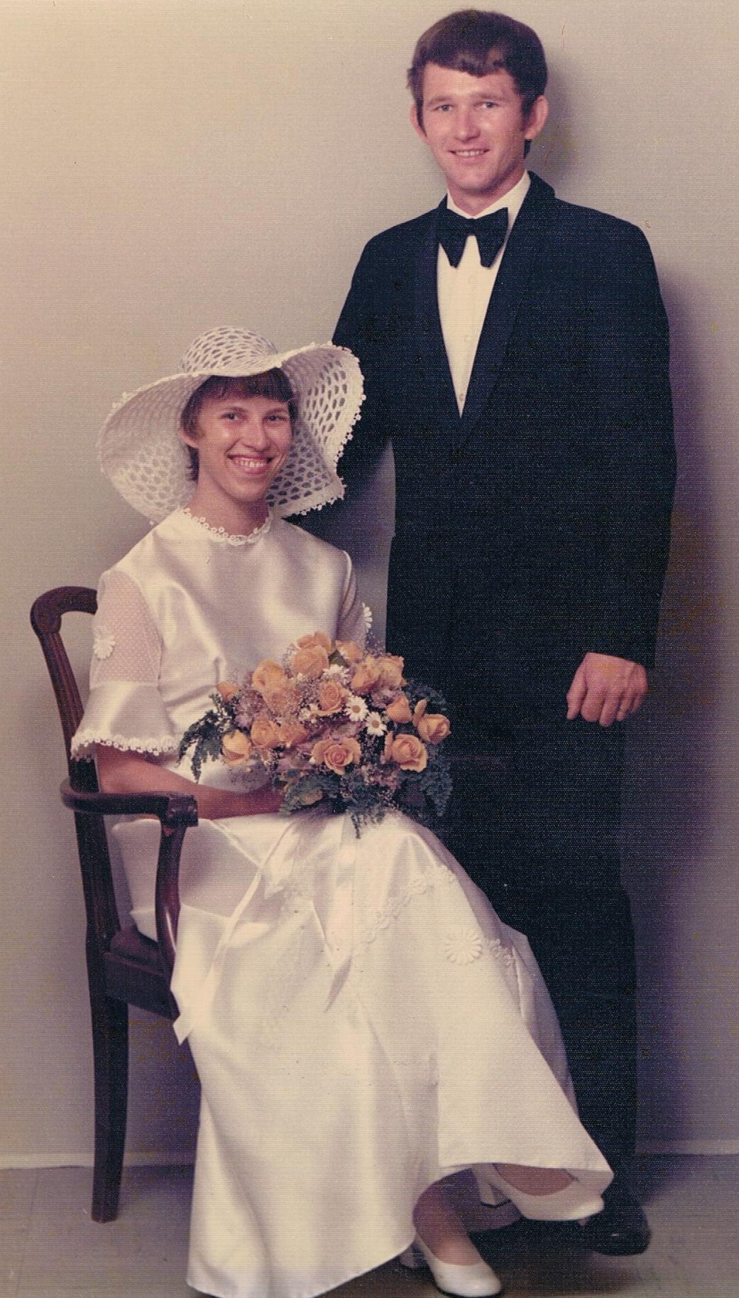 Brudebillede siddende