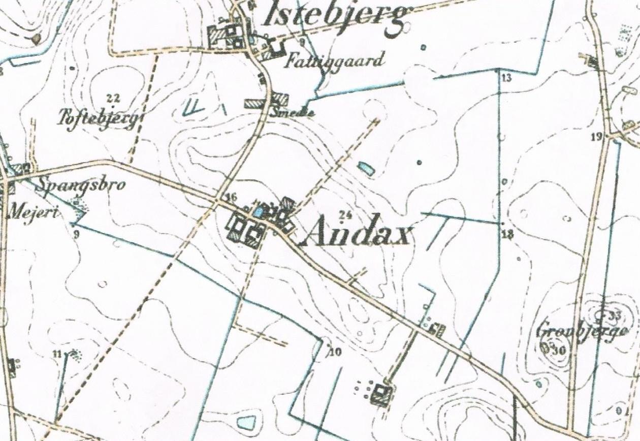Gammelt kort fra Andax