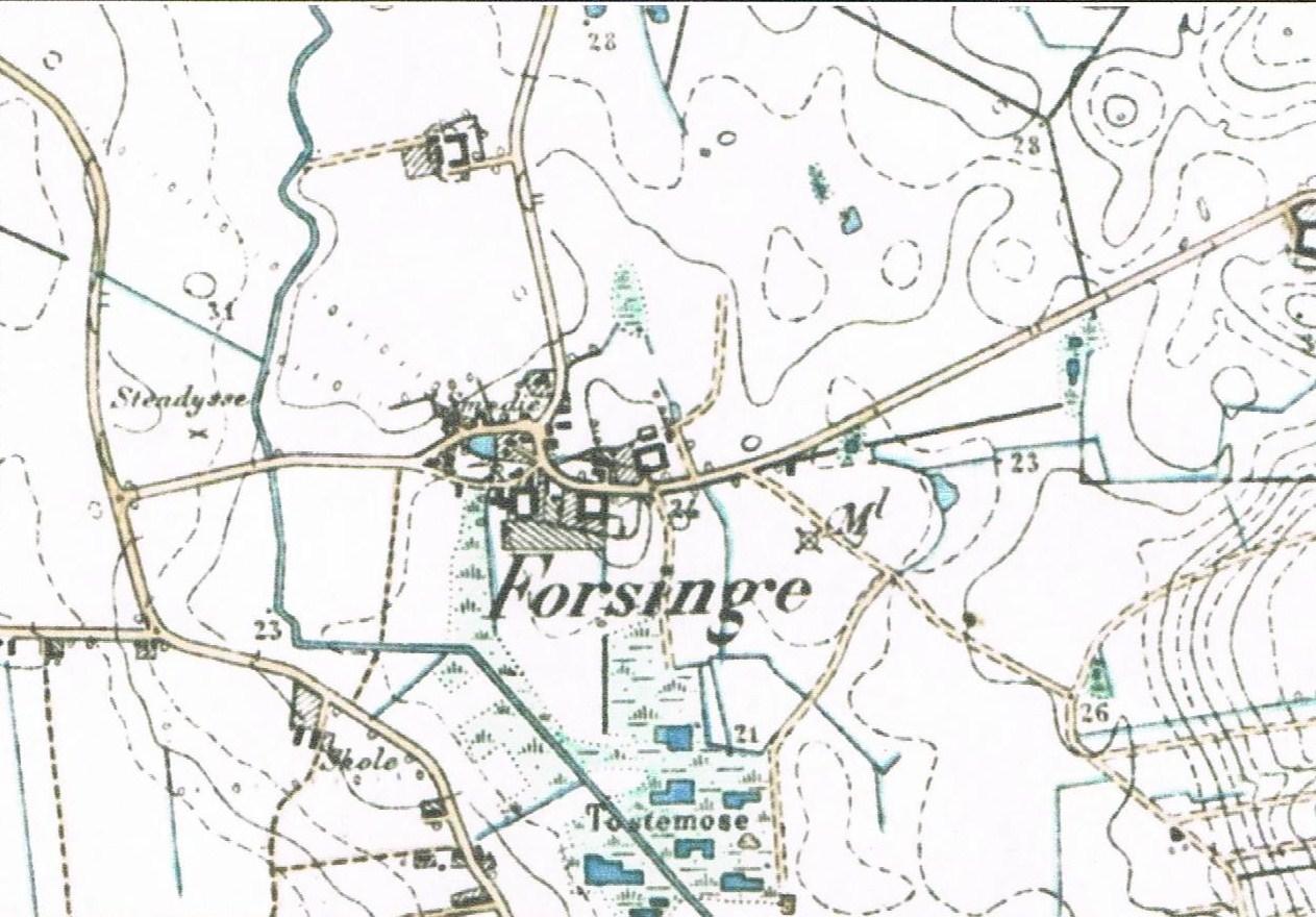 Gammelt kort fra Forsinge