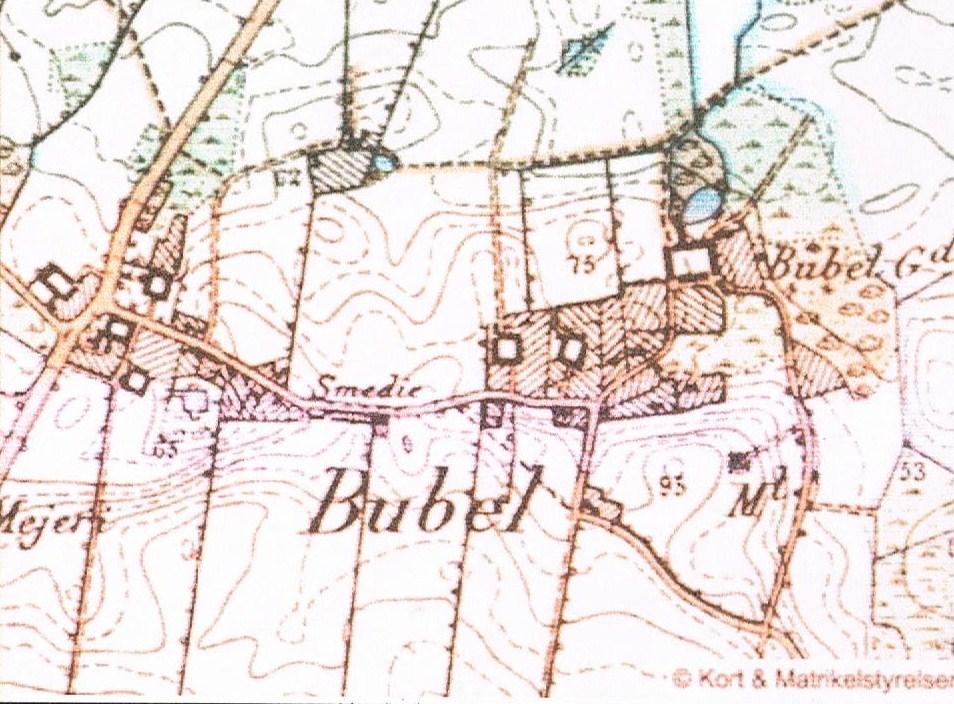 Kort på nettet Bubel 1842