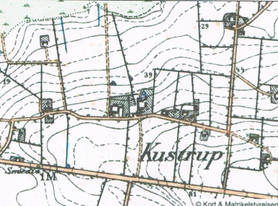Kort på nettet Kustrupgård 1848
